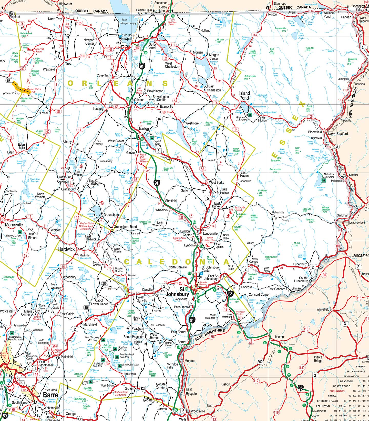 Map Of Southern Vermont Bnhspine Com