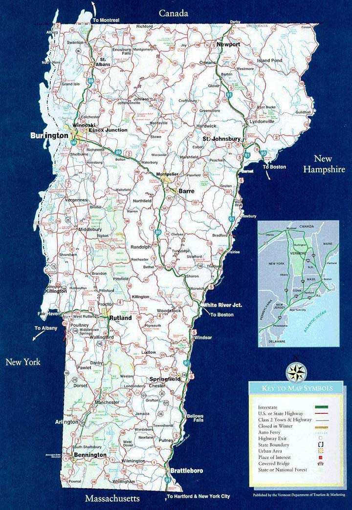 Vermont Vacation Rentals Property In Vermontproperty: Map Of Central Vermont At Usa Maps